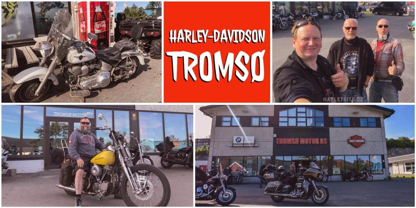 Auch vom Harley-Davidson Dealer in Tromsø brauchen wir ein T-Shirt.