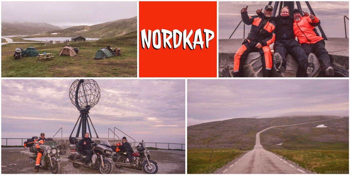 Nordkap - Wir sind um Mitternacht am Nordkap angekommen