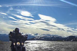 Der Aurlandsfjellet Schneeweg