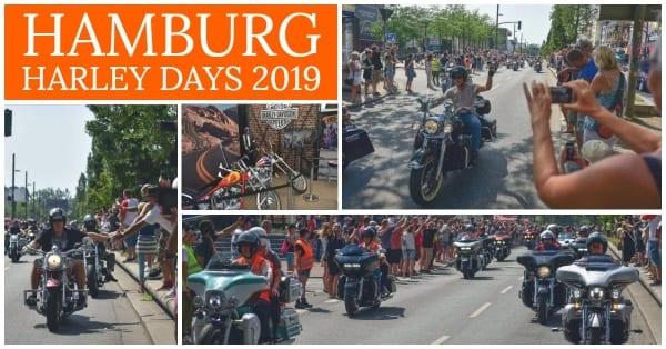 Collage von den Hamburg Harley Days 2019