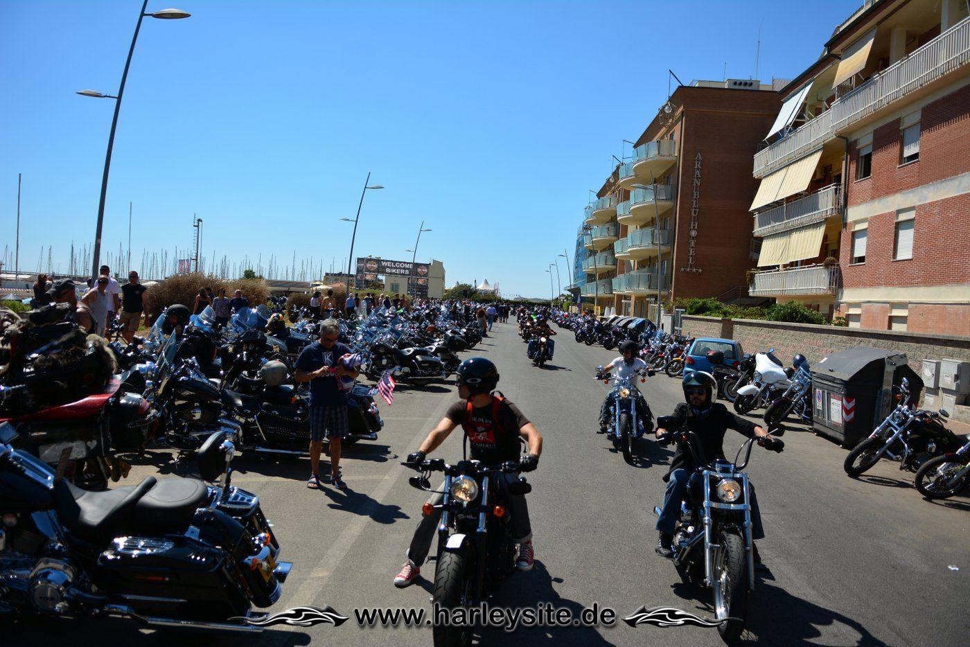 Harley 110th Rom Ostia 39