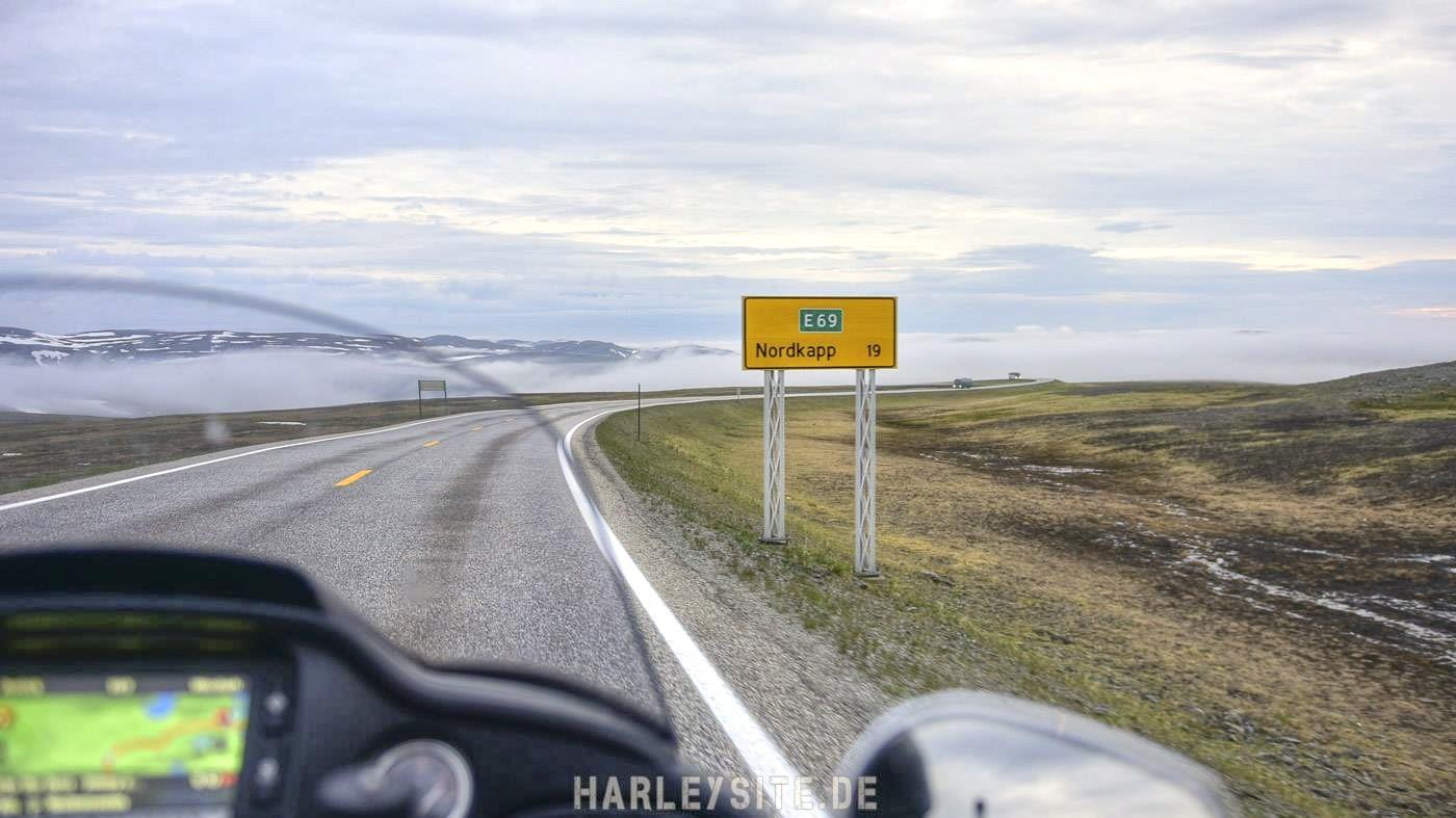 Das Nordkap an der Spitze von Norwegen