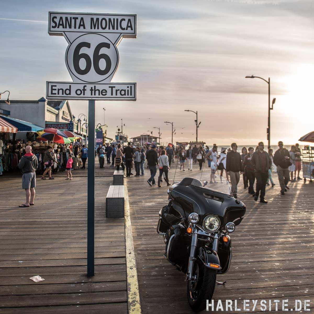 Los Angeles Fotoshooting am Route 66 Schild