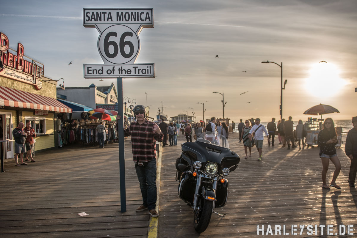 Route 66 am Santa Monica Pier