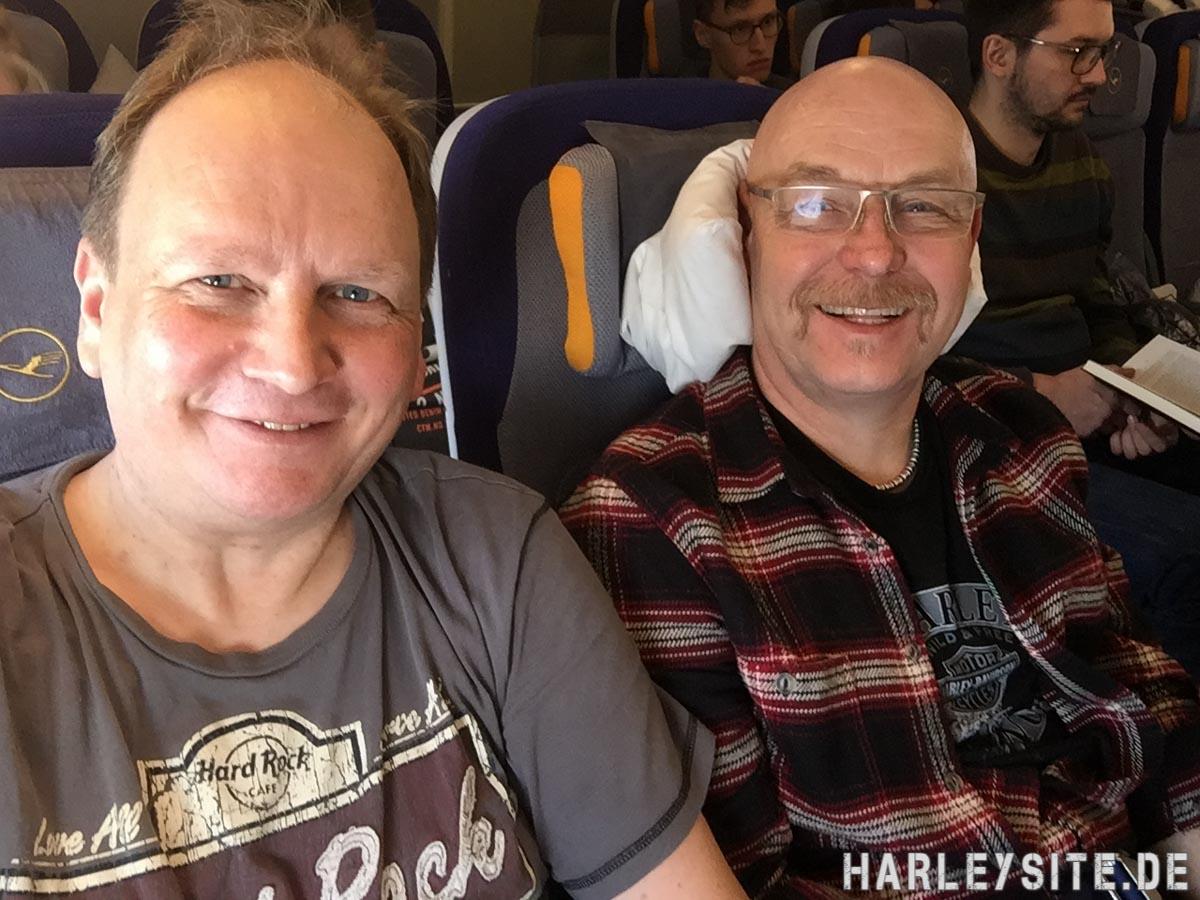Der Hinflug von Frankfurt nach Los Angeles