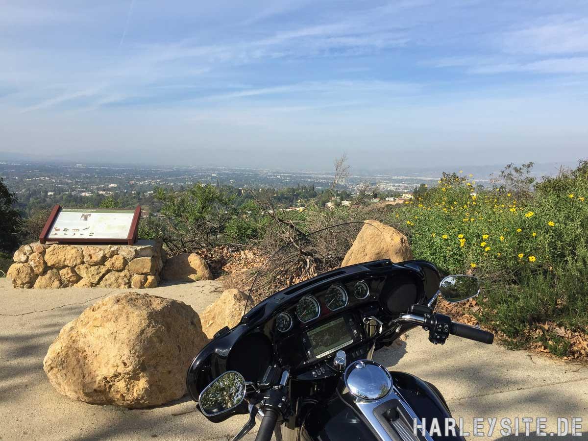 Der Blick von Beverly Hills über Los Angeles