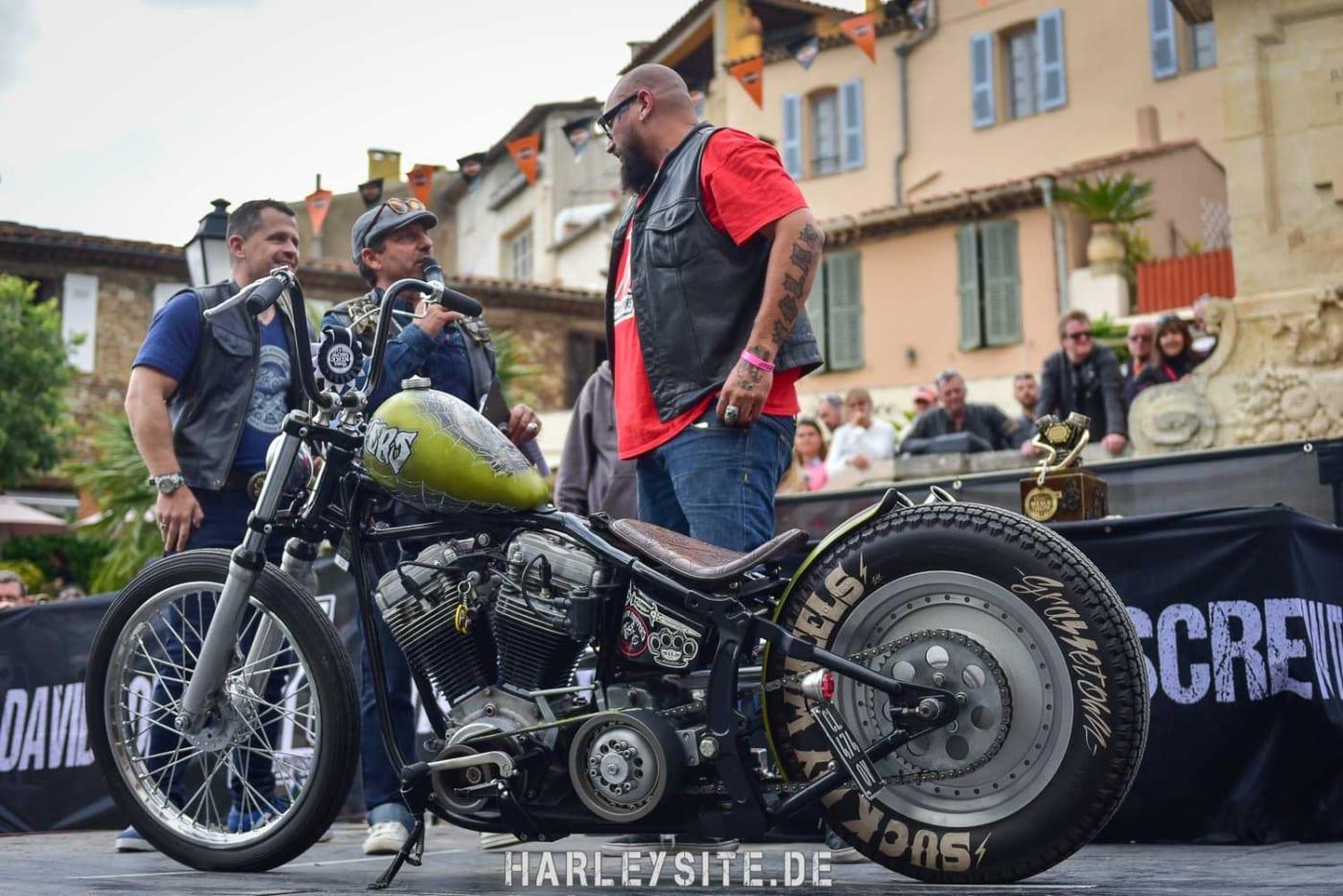Custombike auf der Euro Festival Bike Show in Grimaud