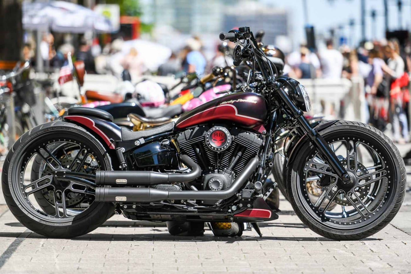 Custombike auf den Hamburg Harley Days