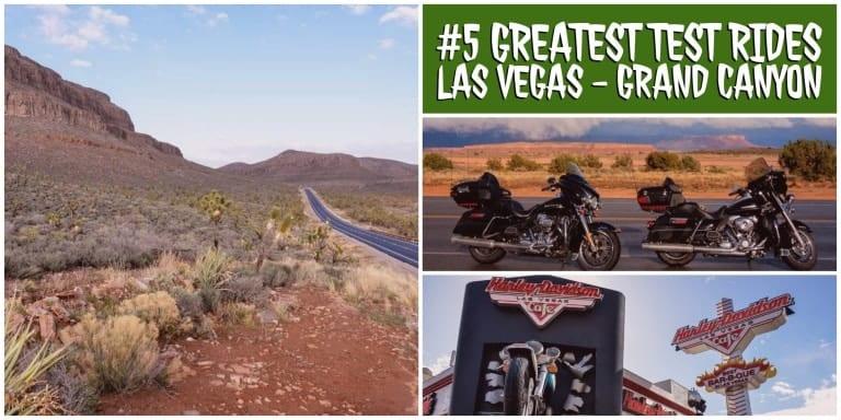 Zeigt das Harley Cafe in Las Vegas und den Weg zum Grand Canyon