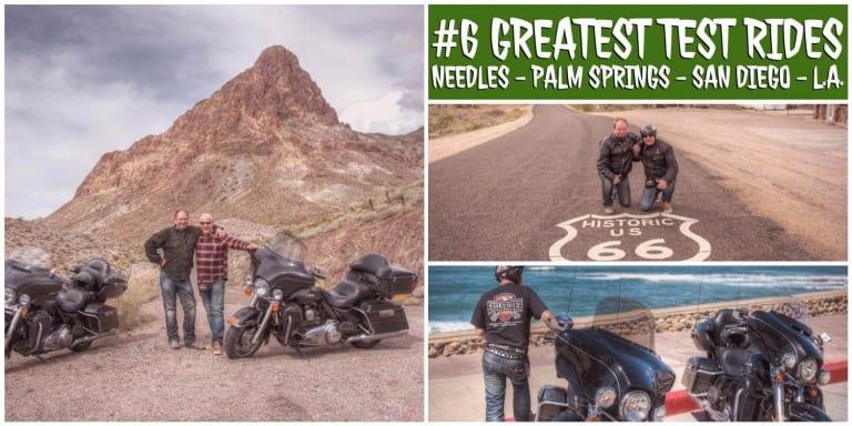 Wir sind mit den Harleys in San Diego am Merr