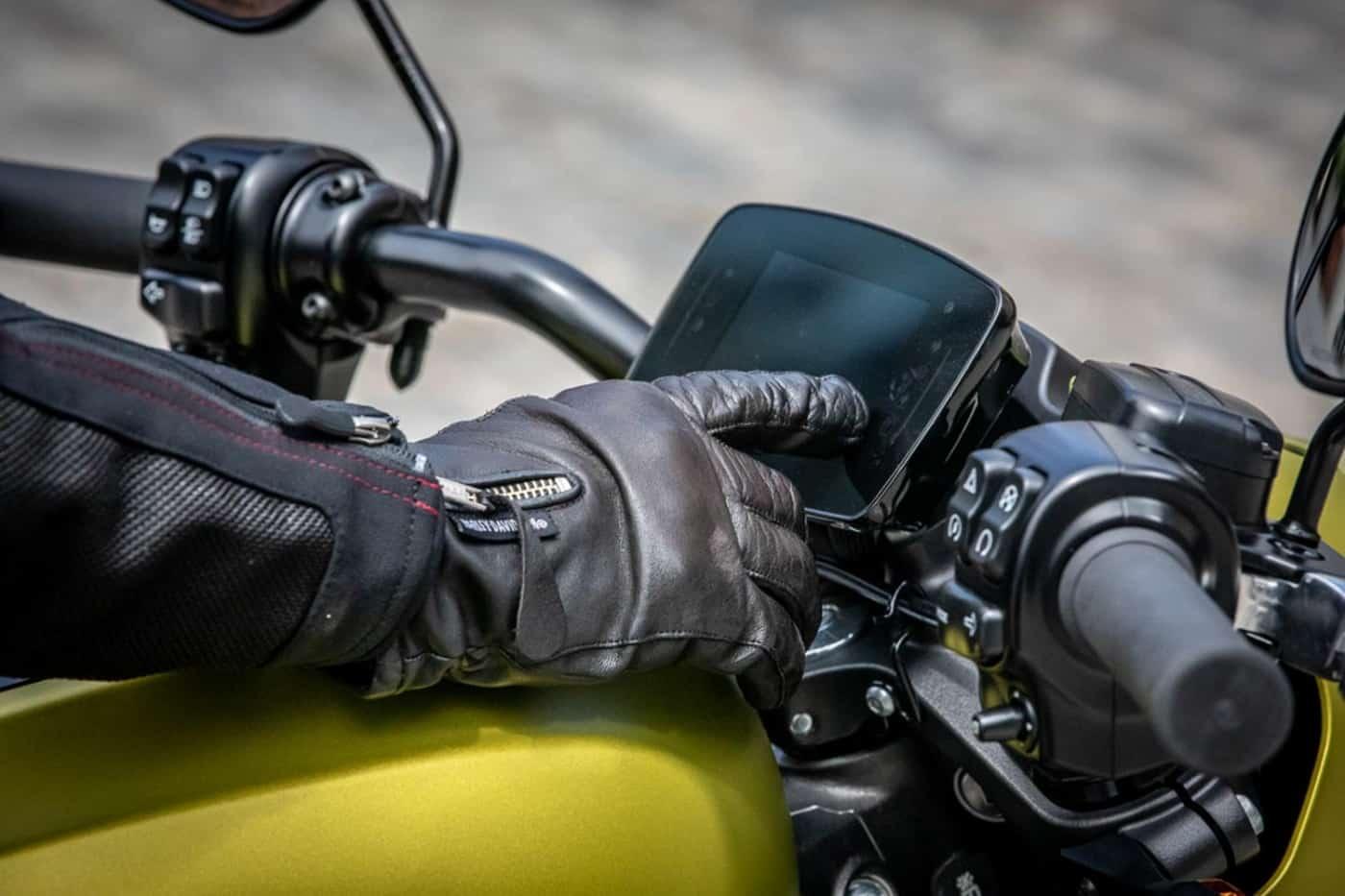 Zeigt das Display der Harley-Davidson LiveWire