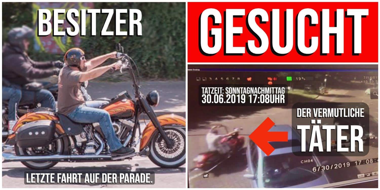 Diebstahl auf den Hamburg Harley Days 2019