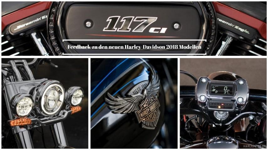Feedback zu den neuen 2018er Harley-Davidson