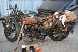 Ein Harley-Davidson Rat Bike