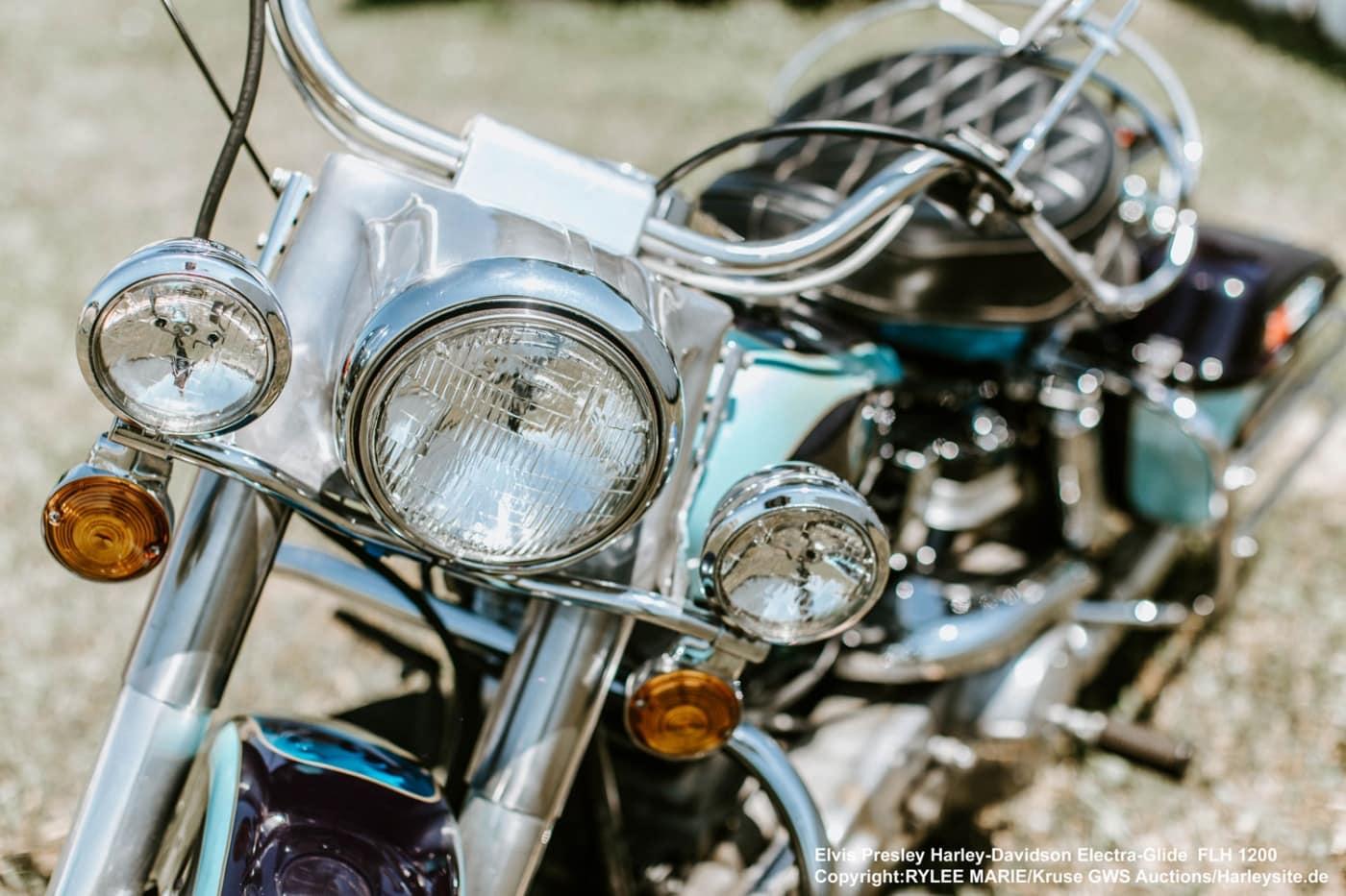 Elvis Presley seine Harley-Davidson Electra-Glide von 1976