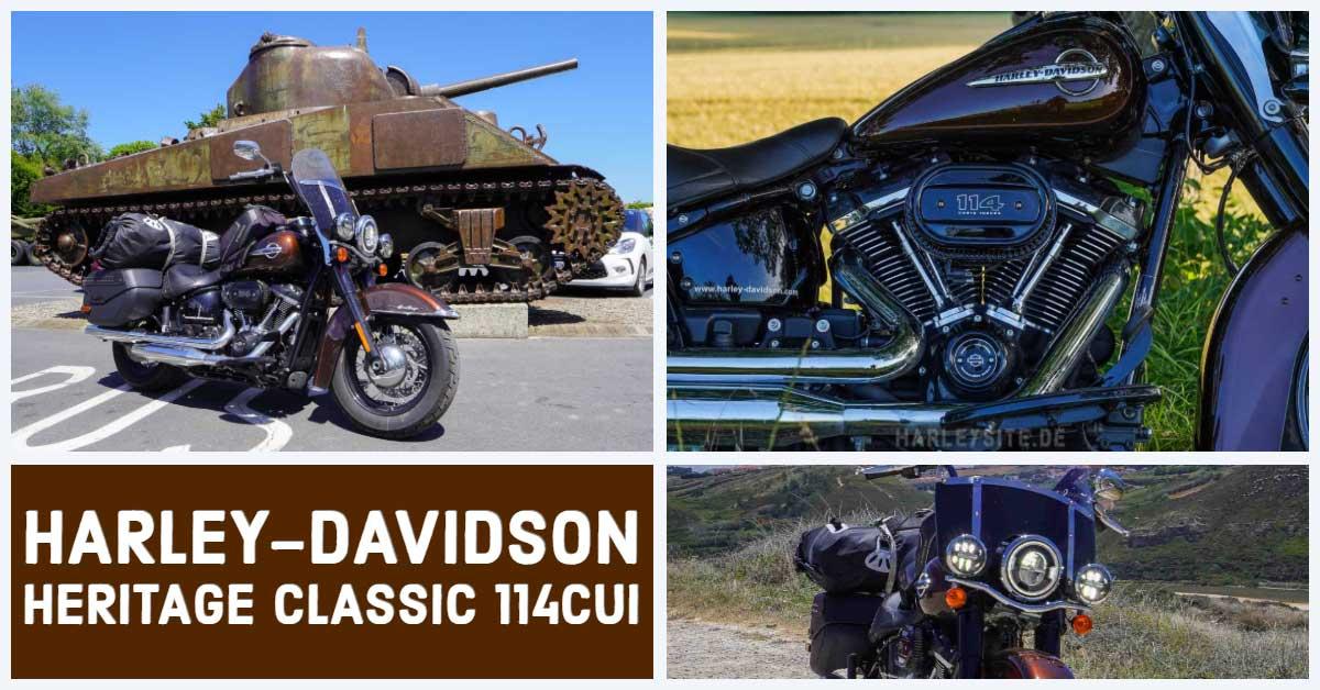 Zeigt das eine Collage der Harley-Davidson HEritager Classic 114