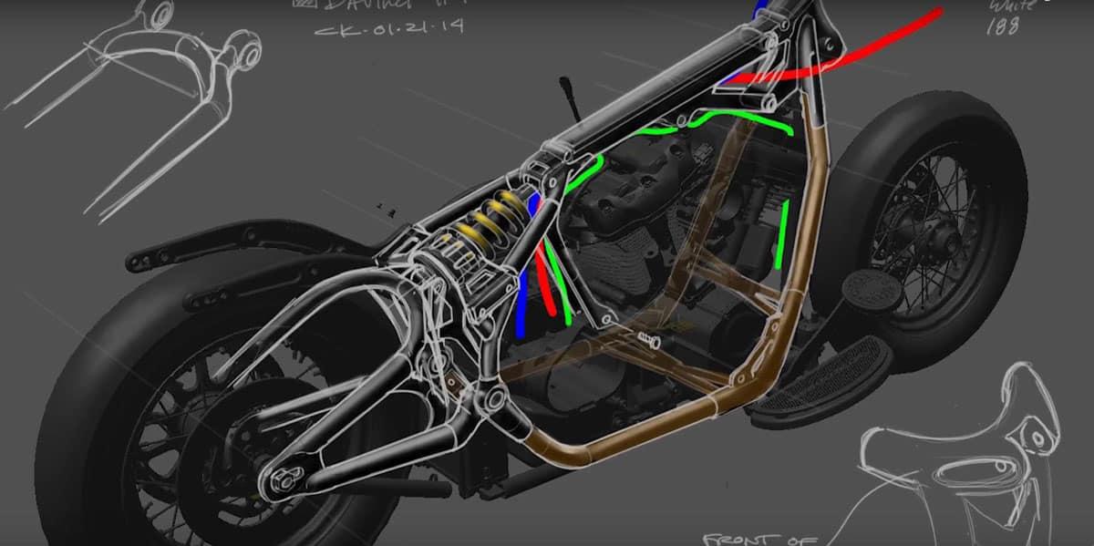 Harley-Davidson Softail 2018 Monoshock Rahmen