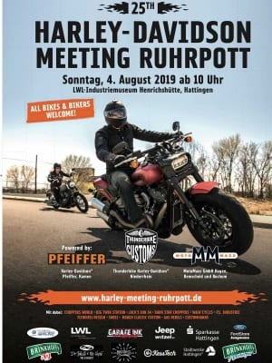 DAs Bild zeigt das Plakat vom Harley Meeting Ruhrpott 2019