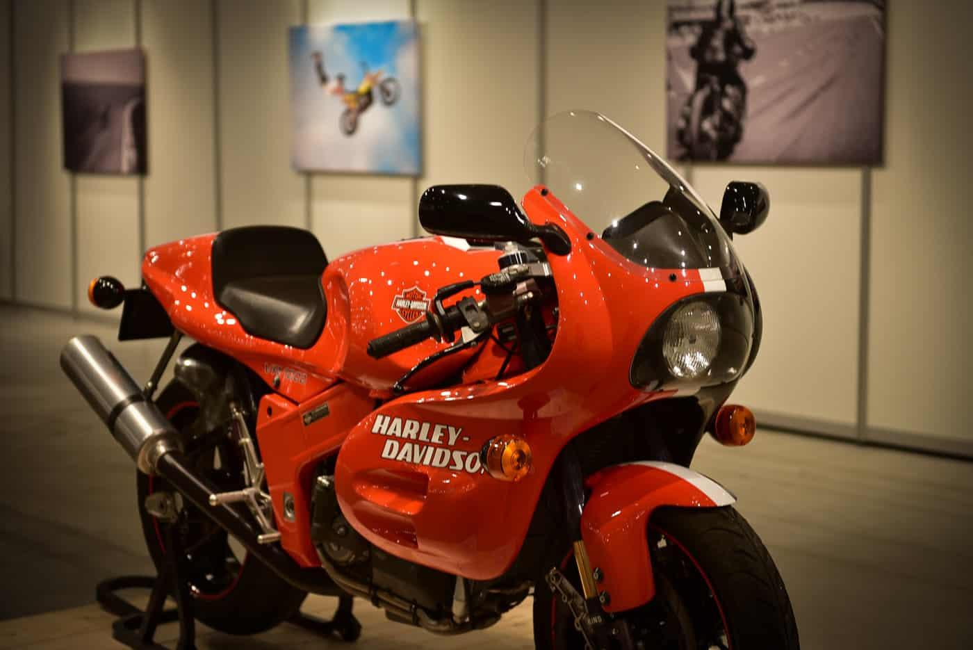 Eine Renn Harley-Davidson
