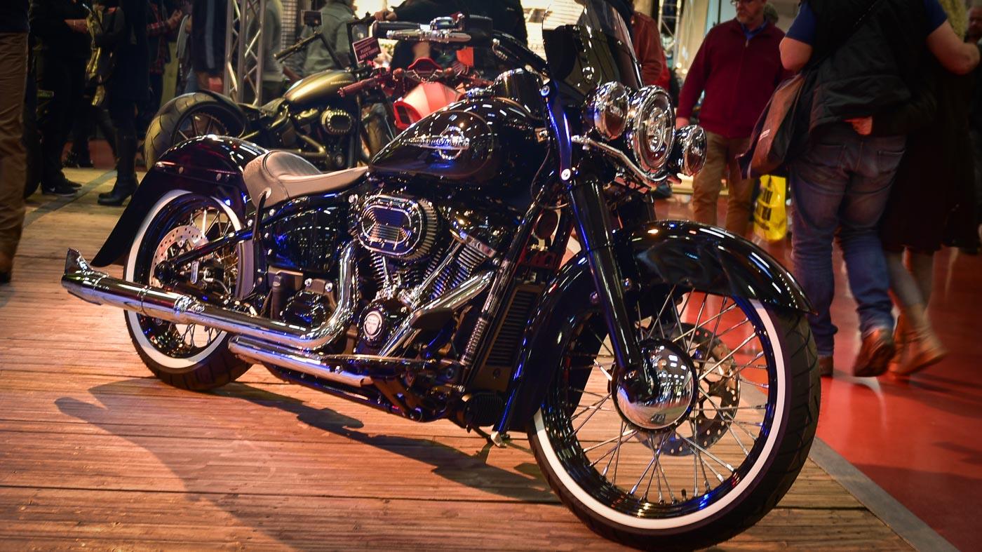 Custombike auf der Motorradmesse in Bad Salzuflen