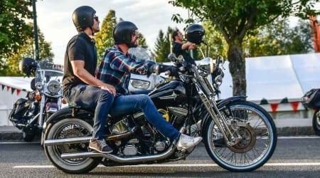 Harley Biker auf dem Harley Treffen am Faaker See