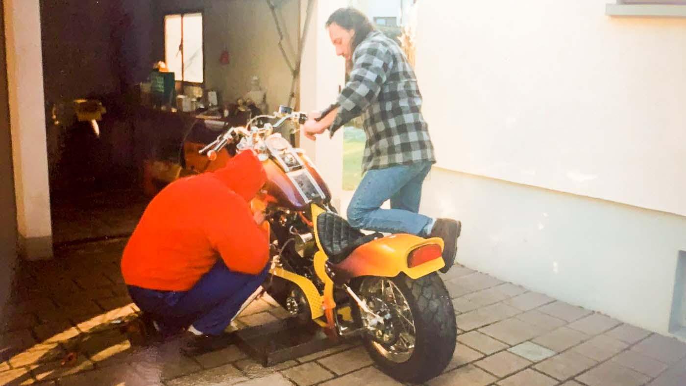 Rick´s erste Werkstatt, seine Garage in Raststatt