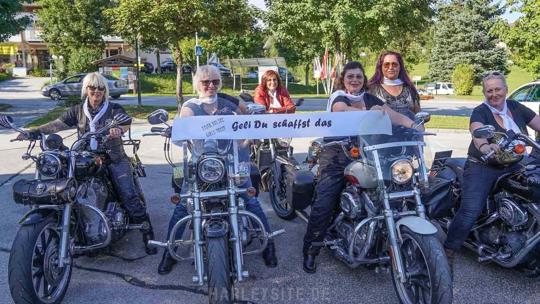 Die Harley Girls Europa treffen sich am Faaker See