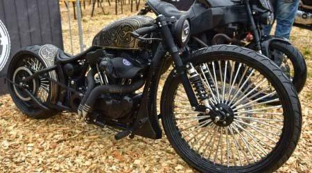 Custombike auf der Harley Davidson BikeShow am Faaker See