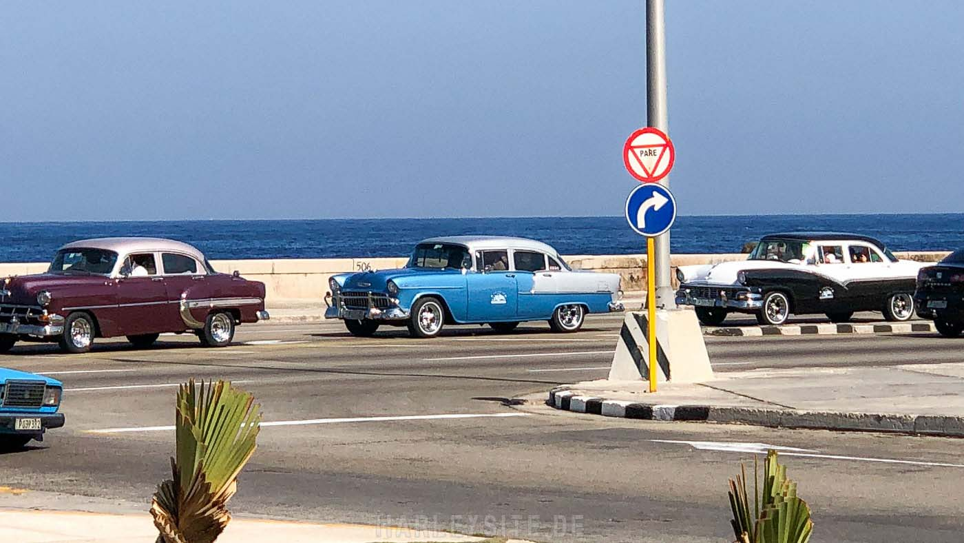 Alte US Cars in Havanna auf Cuba