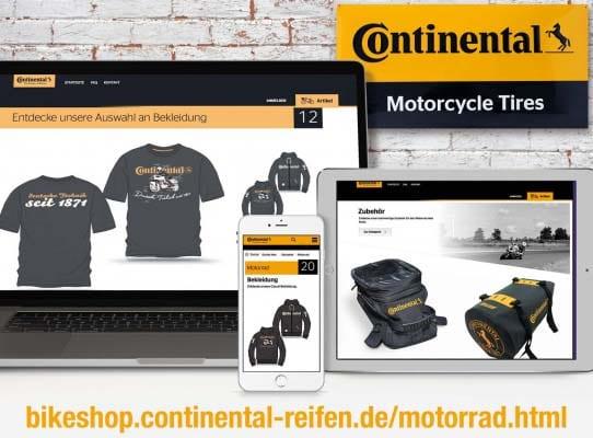 Continental: Exklusive Accessoires für Motorrad und Freizeit im Netz
