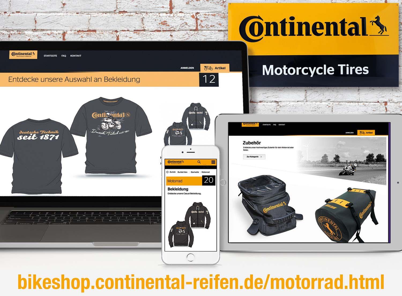 Continental Online-Shop Motorrad und Freizeit