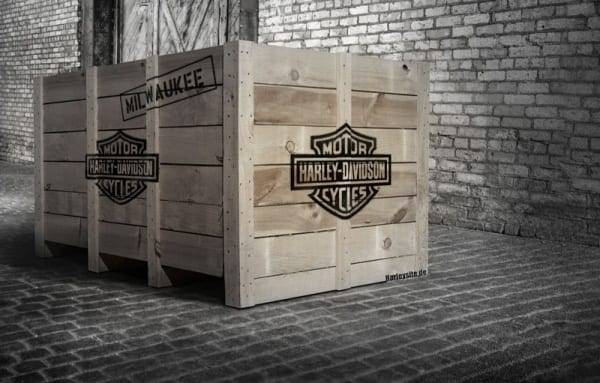 Harley-Davidson Holzkiste