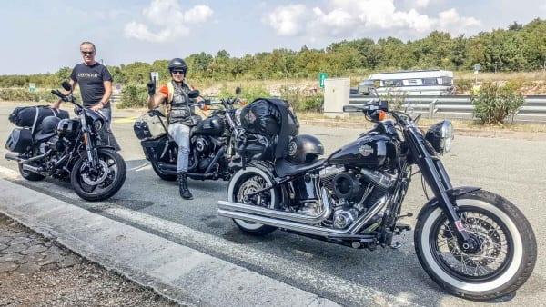 Auf der Harley-Davidson nach Istrien