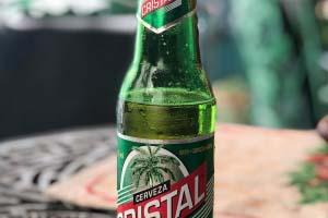 Cerveza Cristall Bier auf Kuba.