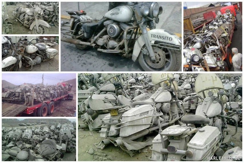Harley-Davidson Road King Police Friedhof in Peru