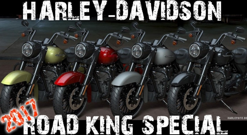 Die vier Harley-Davidson Road King Special Farben