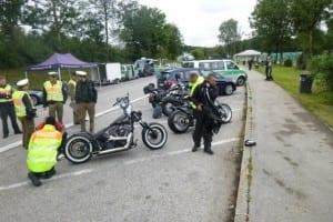 Polizeikontrolle auf dem Heimweg von der European Bike Week