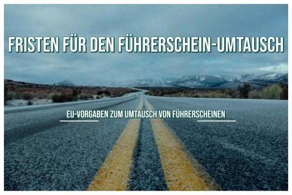 Führerschein EU-Vorgaben