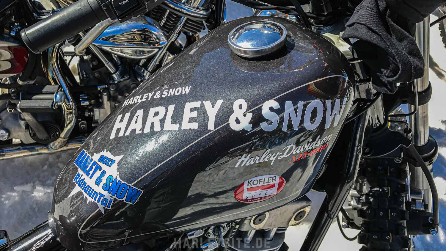 Harley and Snow Hillclimbing