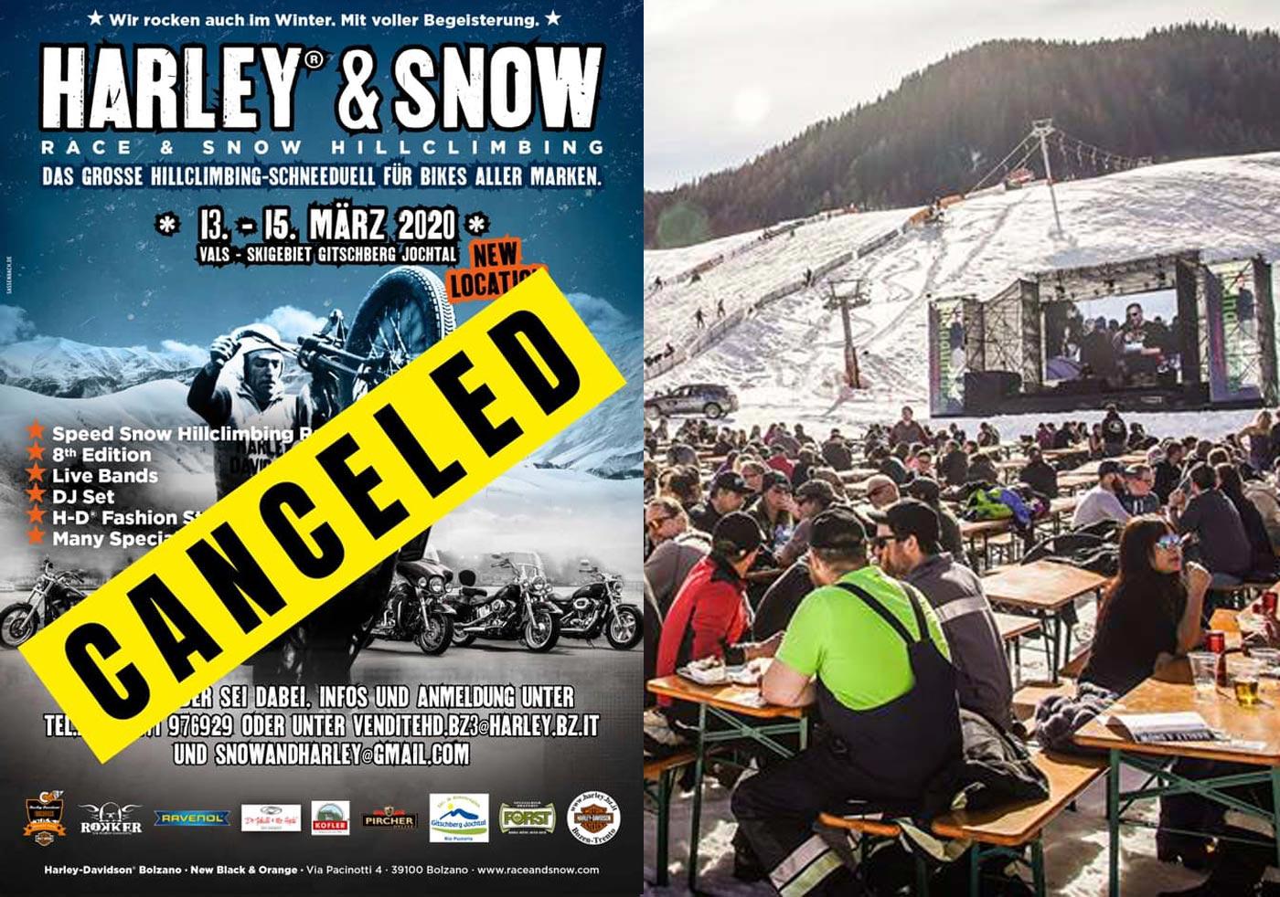 Corona Virus - Harley And Snow 2020 ABSAGE
