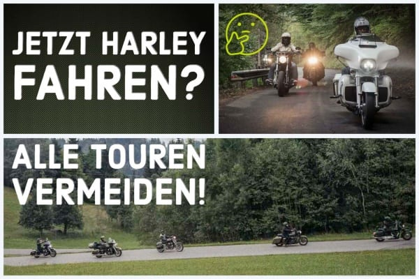 Corona Aktuell - Harley-Touren vermeiden.