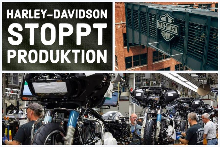 Coronavirus stoppt die Harley-Davidson Produktion in den USA