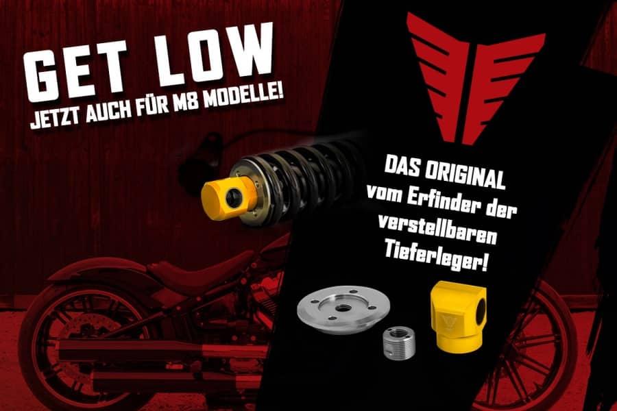 Harley-Davidson tieferlegen mit Müller Motorcycles Tieferleger