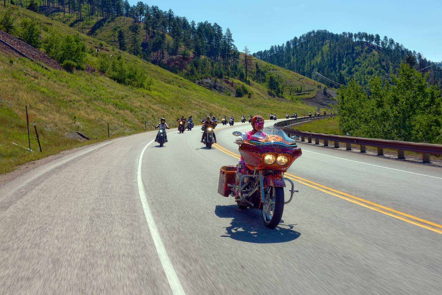 Sturgis Harley Treffen - Harleys on the Road