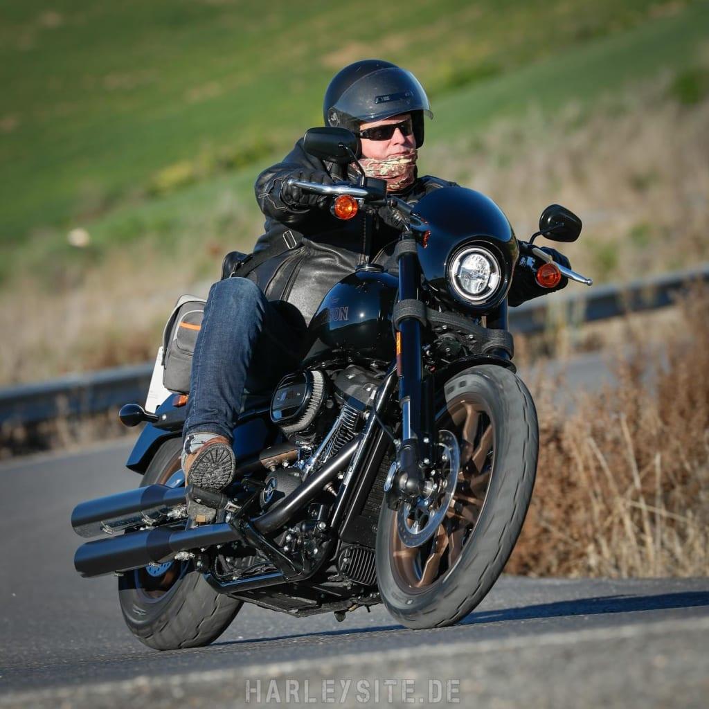 Testfahrt auf der Low Rider S in Spanien 2020