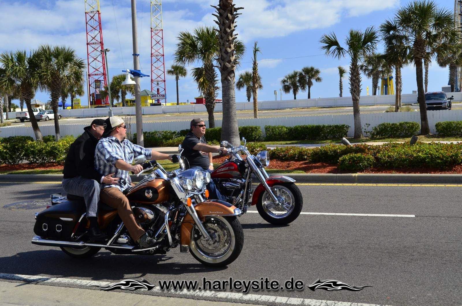 Daytona Bike Week Harley on the Road