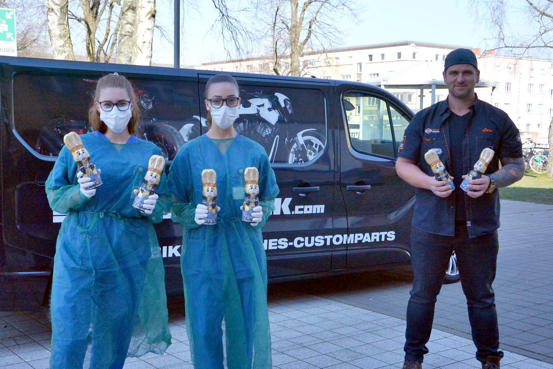 Schokoosterhasen Spenden Rostock
