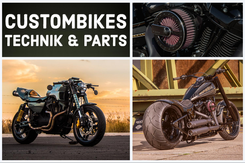 Custombikes, Parts und Technik - Harley-Davidson Motorräder