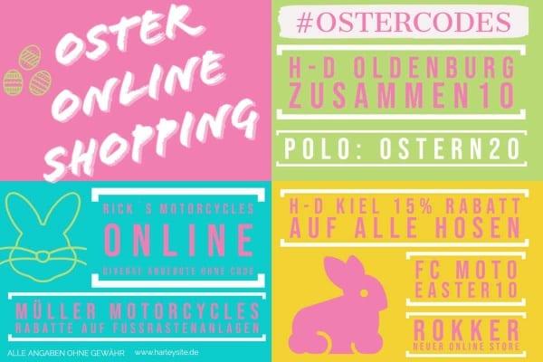 Frohe Ostern - Ostercodes zum online Shopping