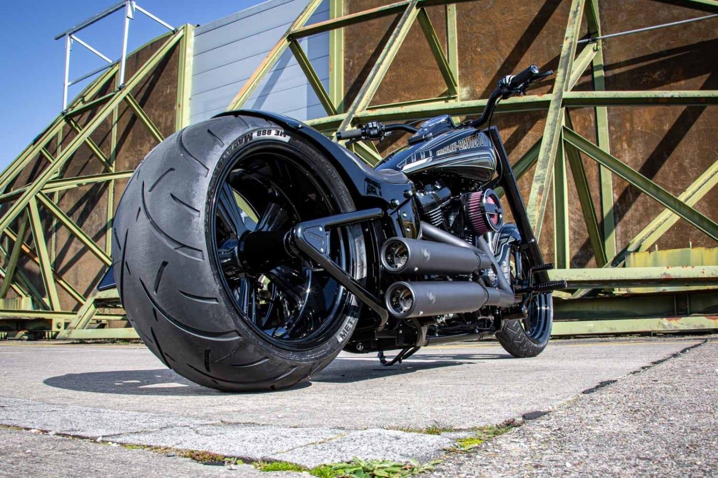 300er Schwingenkit von Rick´s Motorcycles